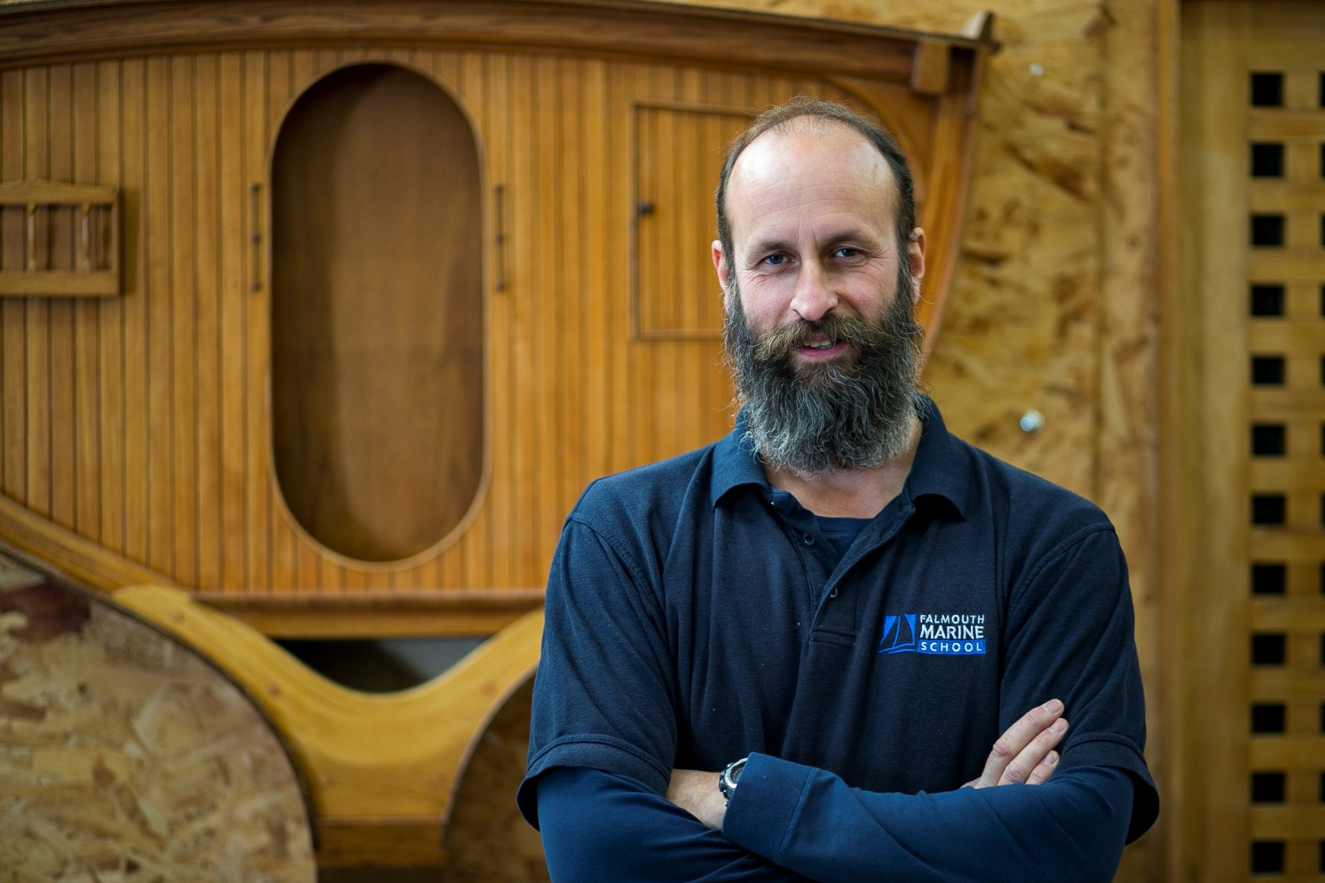 Former serviceman teaching boat builders of the future