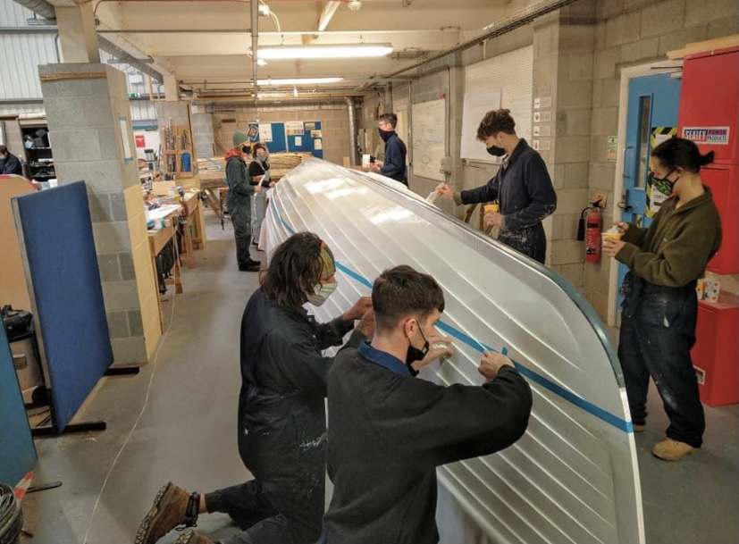 Anchors aweigh! Students complete epic charity boat project